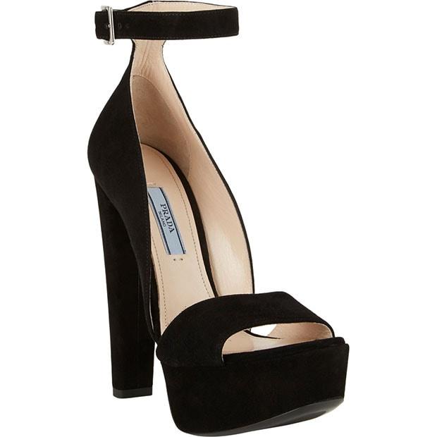 Prada Ankle-Strap Platform Sandals