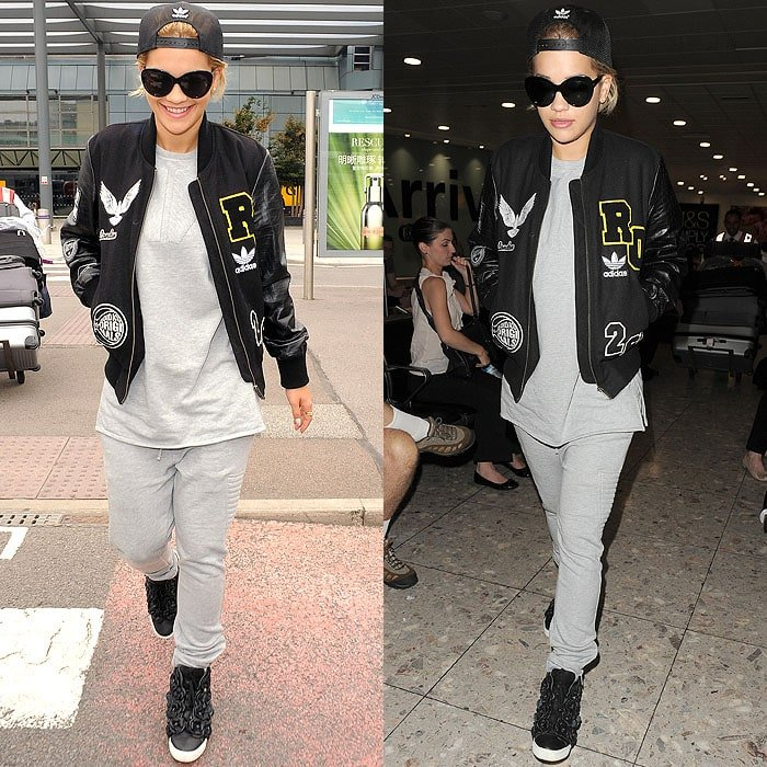 Rita Ora styled her sweatsuit with one of the trendiest fashion sneakers