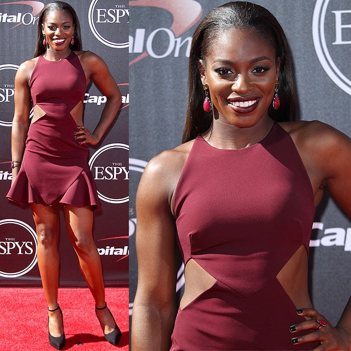 Sloane Stephens attended the 2014 ESPY Awards held at Nokia Theatre L.A. Live in Los Angeles on July 16, 2014