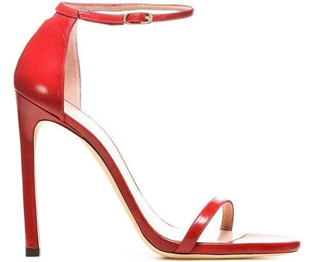 Red Stuart Weitzman Nudist Sandals