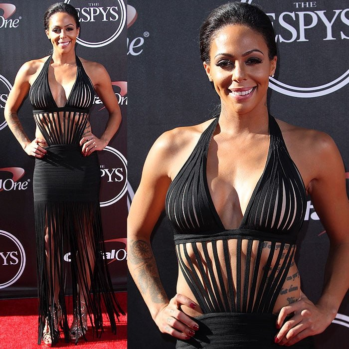 Sydney Leroux attended the 2014 ESPY Awards held at Nokia Theatre L.A. Live in Los Angeles on July 16, 2014