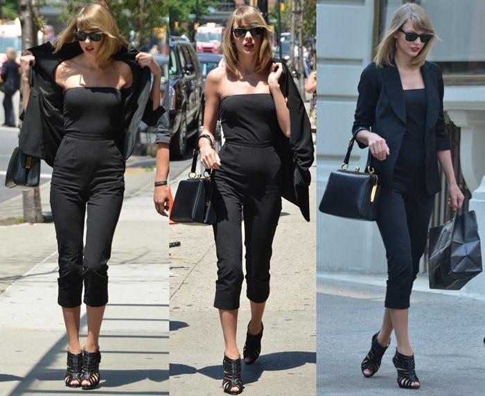 newest 07b3c b3424 Taylor Swift Flaunts Long Legs in Christian Louboutin ...