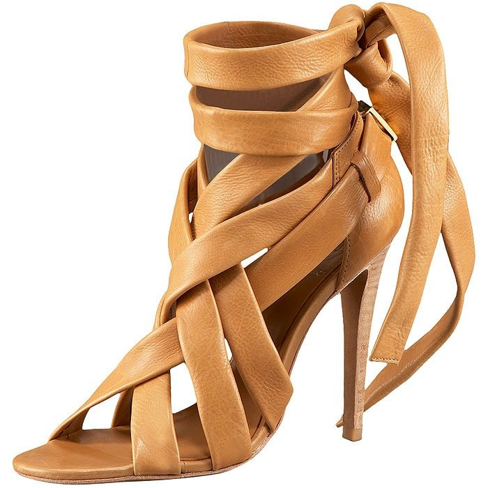 Tory Burch wrap-up sandals
