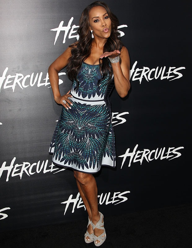 Vivica A. Fox at the Los Angeles premiere of 'Hercules'