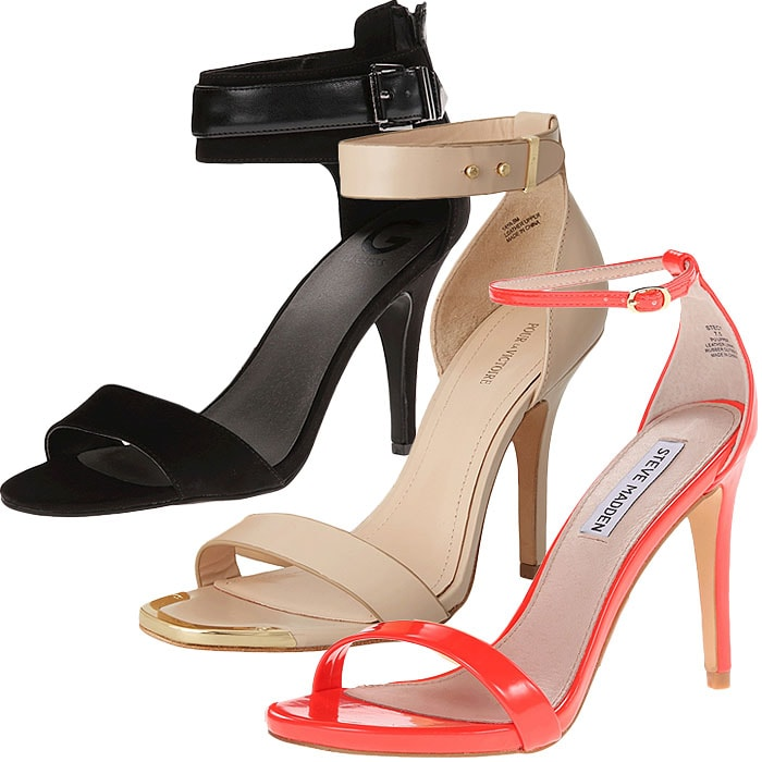 Ankle strap sandals with sweatpants