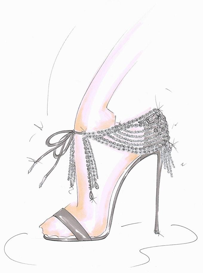 Aquazzura x Olivia Palermo jeweled evening sandals