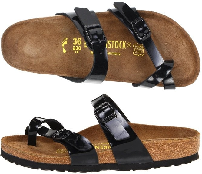 Birkenstock Mayari Black Patent Leather Slides