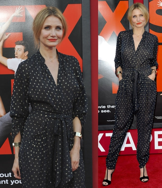 Cameron Diaz on the red carpet at the premiere of 'Sex Tape' in Los Angeles on July 10, 2014