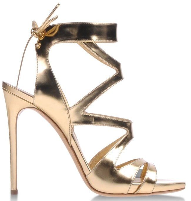 Casadei Cutout Ankle-Tie Sandals