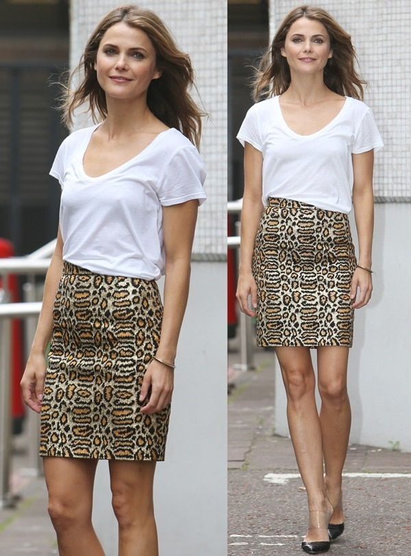 Keri Russell stopped by the ITV Studios to promote'Dawn of the Planet of the Apes'