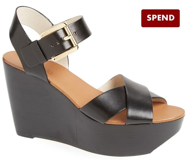 michael kors peggy wedge sandals