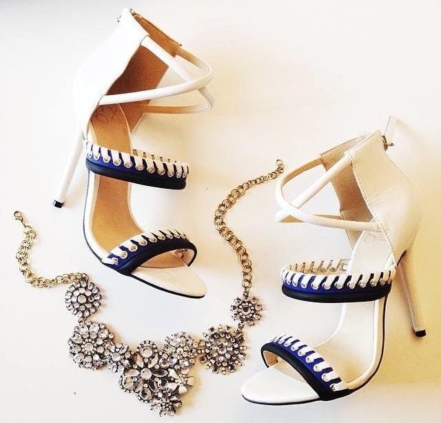 "GX by Gwen Stefani ""Takara"" Sandals in Blue/White"