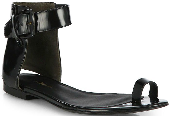 3 1 Phillip Lim Isabela Leather Toe Ring Sandal