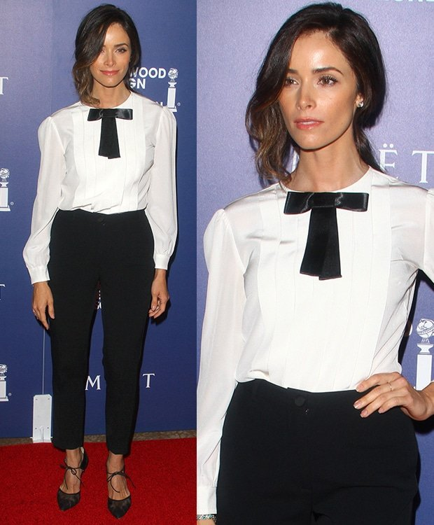 Abigail Spencer at theHollywood Foreign Press Association's Grants Banquet held at The Beverly Hilton hotel in Beverly Hills on August 14, 2014