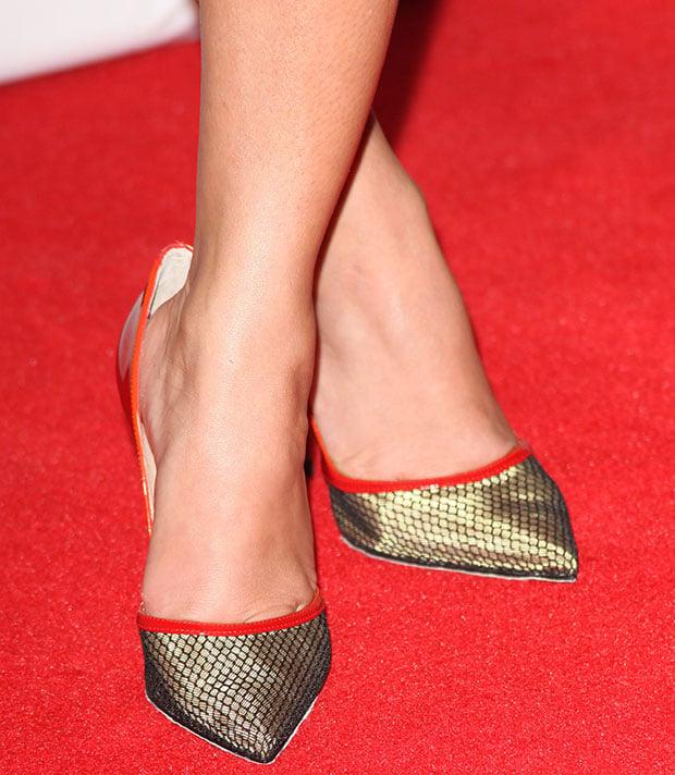 Adrienne Bailon reveals toe cleavage in Christian Louboutin 'Miluna' pumps
