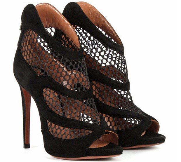 Alaia-Suede-and-Mesh-Ankle-Boots-1