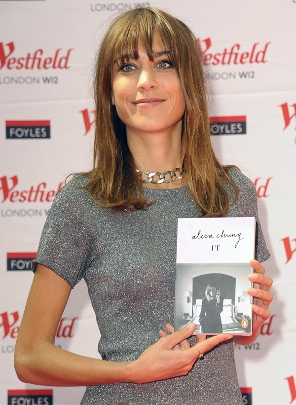 Alexa Chung at the book signing for It held at Westfield in London, England, on August 12, 2014