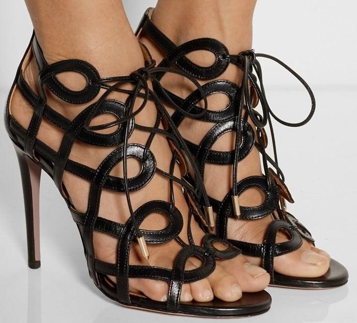 Aquazzura Olivia Palermo cutout leather sandals