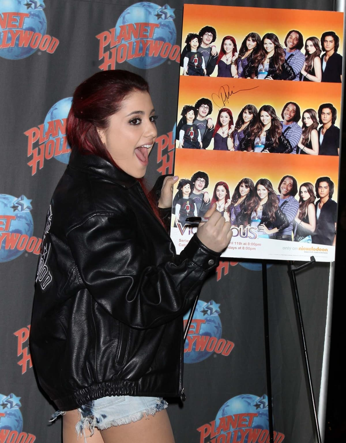 Ariana Grande became famous for her role as Cat Valentine in the Nickelodeon television series Victorious