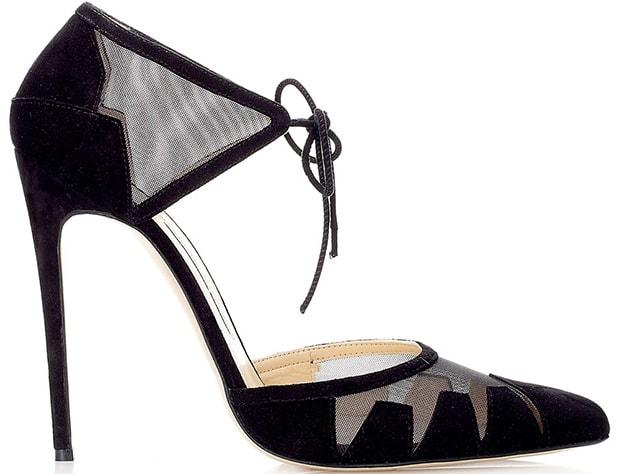 Bionda Castana Ankle-Tie Lana Pumps