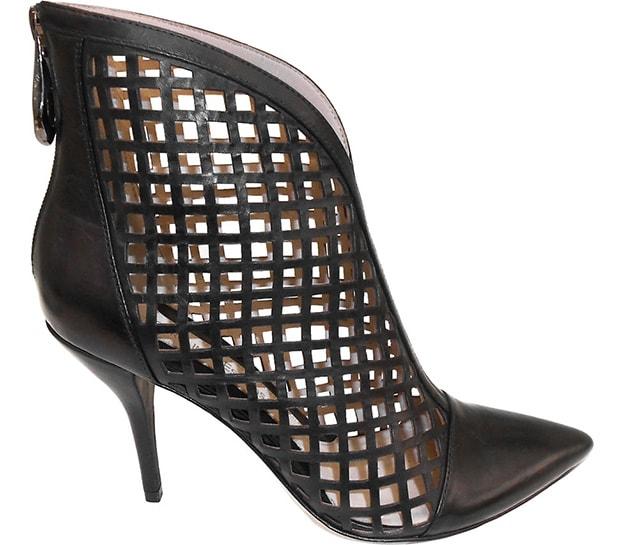 "Carolinna Espinosa ""Daizy"" Leather Lattice Booties"