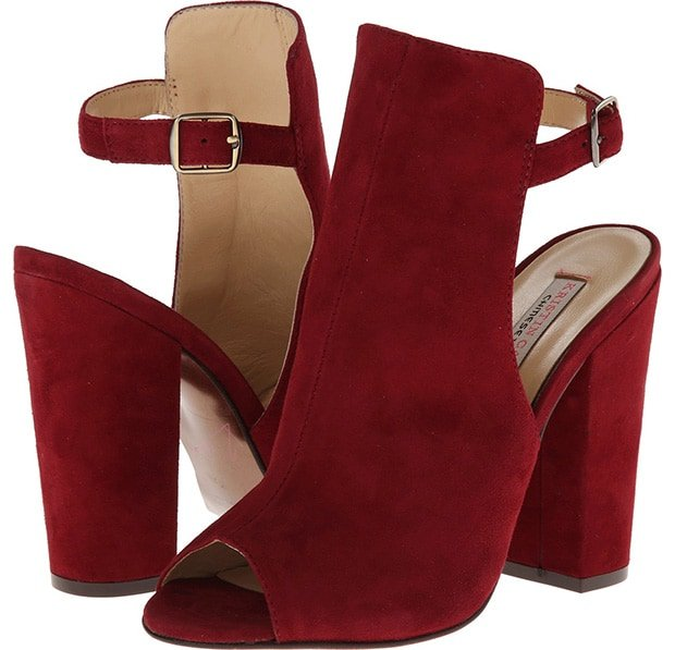 "Chinese Laundry by Kristin Cavallari ""Layla"" Booties in Merlot Suede"