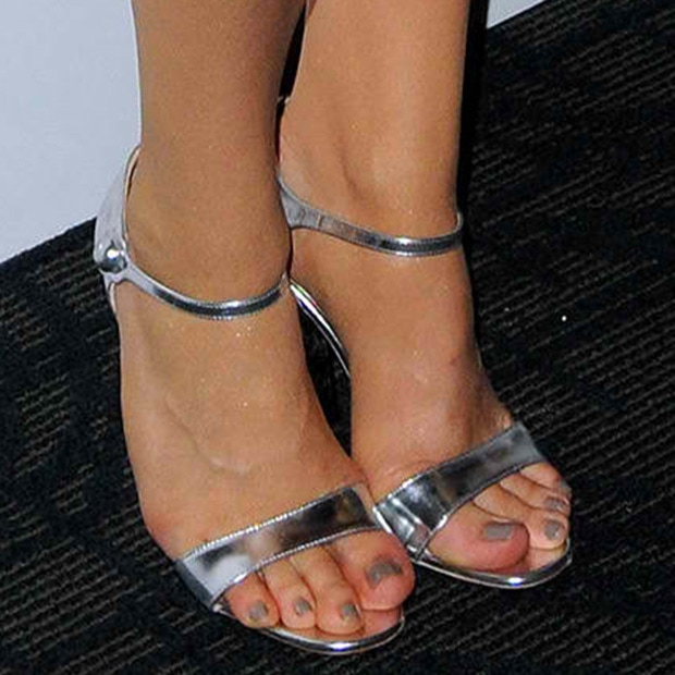 Chloe Grace Moretz wearing Miu Miu sandals