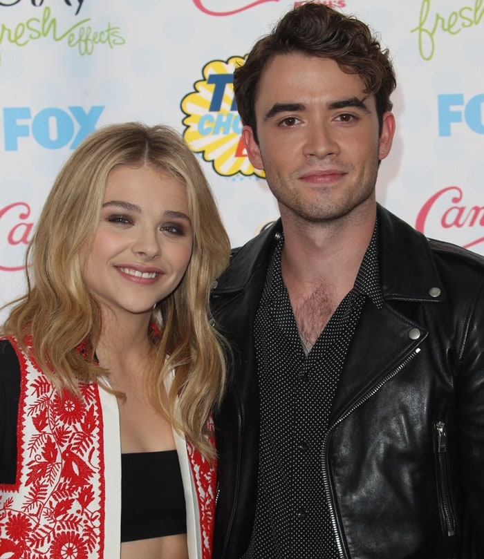 Chloe Moretz and Jamie Blackley at Fox's 2014 Teen Choice Awards held at the Shrine Auditorium in Los Angeles on August 10, 2014