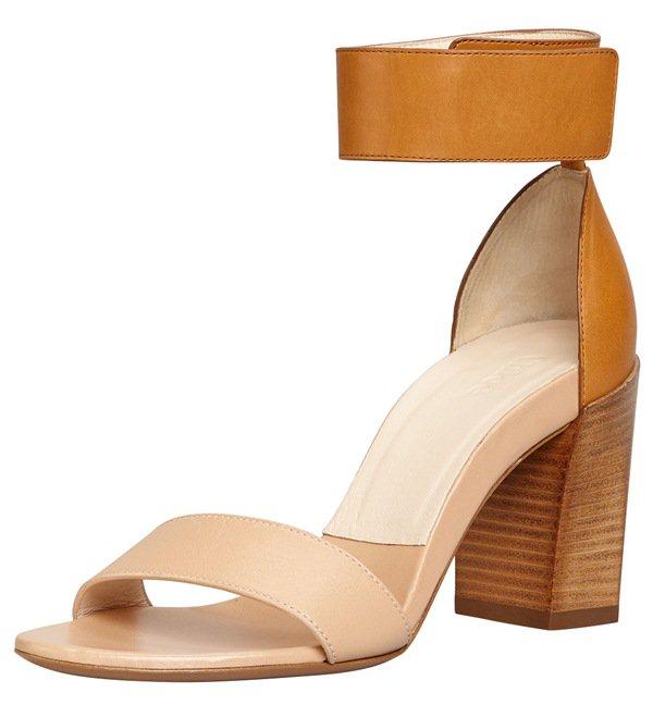 Chloe Stacked Heel Ankle Wrap Sandal