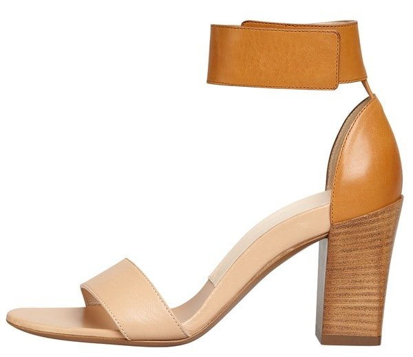 Chloe Stacked Heel Ankle Wrap Sandals