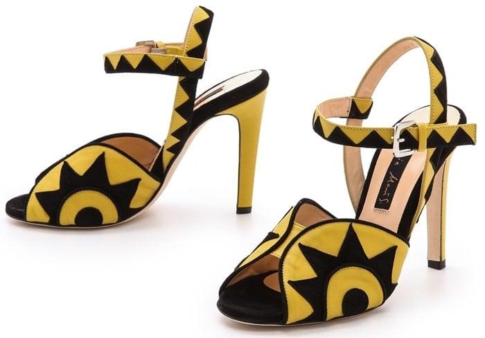 Chrissie Morris Rosa Sandals Yellowblack