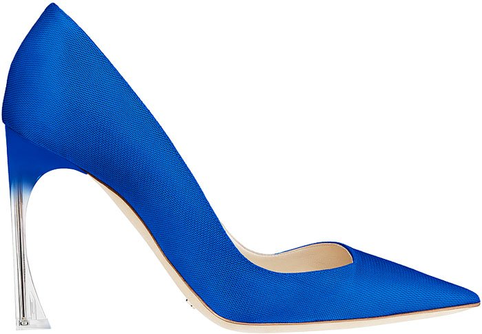 Christian Dior Resort 2014 Perspex-Heel Satin Pumps