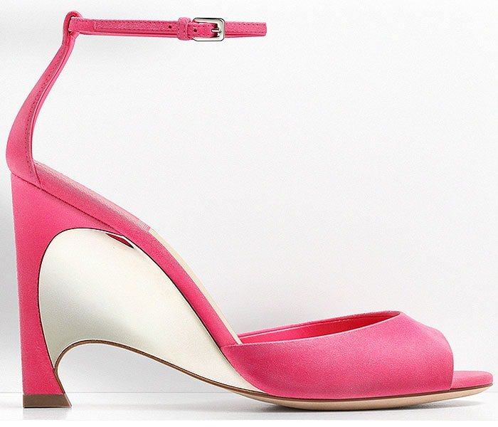 Christian Dior mirror wedge heel suede sandals