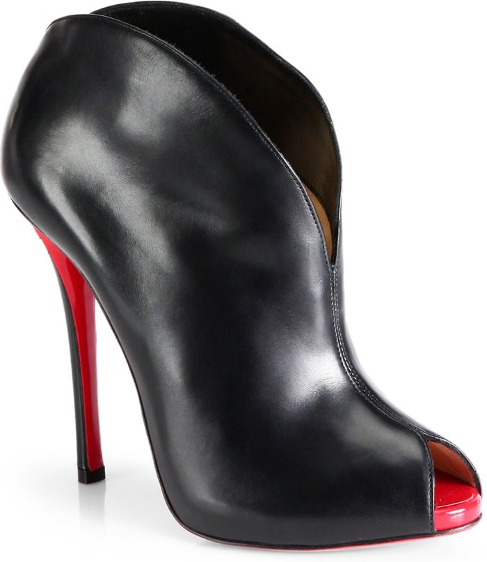 Christian Louboutin Black Chesterfille Leather Ankle Boots