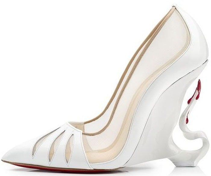 """Christian Louboutin """"Malangeli"""" Wedges with Bloody Horn Heels"""