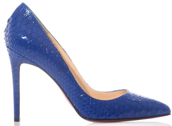 Christian Louboutin Pigalle 100mm python pump