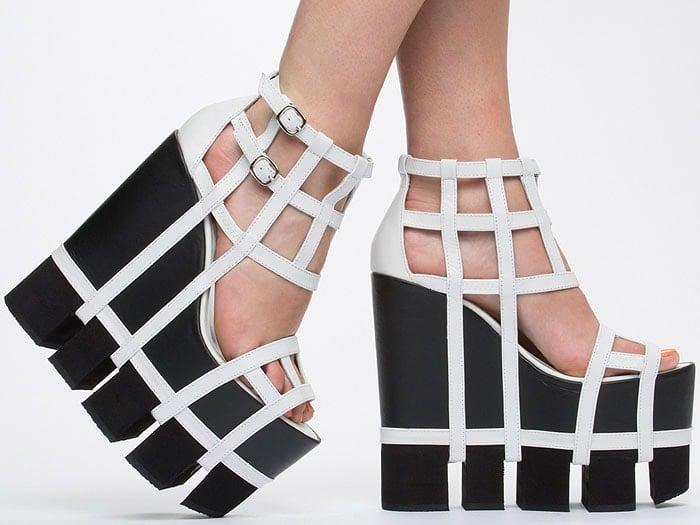 Chromat Orthogonal platform sandals