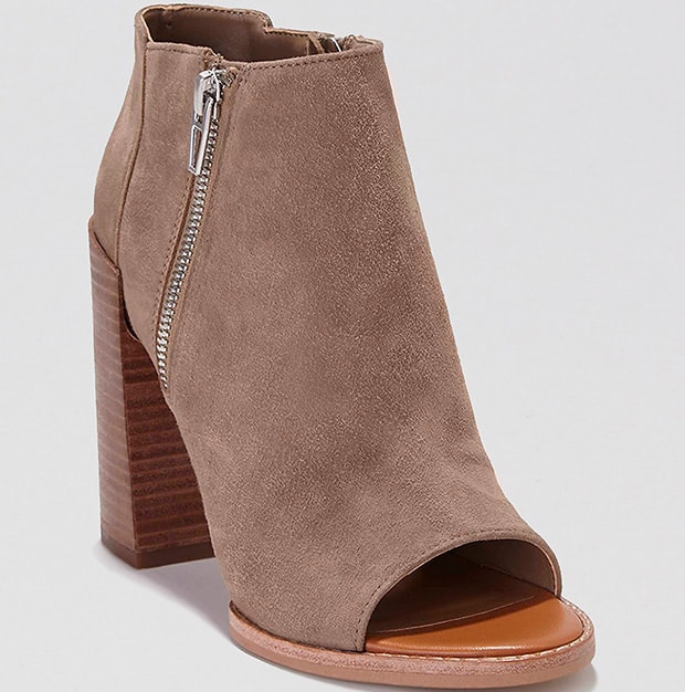 DV by Dolce Vita 'Mercy' Booties in Gray Suede