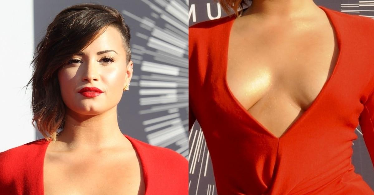 Demi Lovato In Gold Snake Textured Giuseppe Zanotti Coline