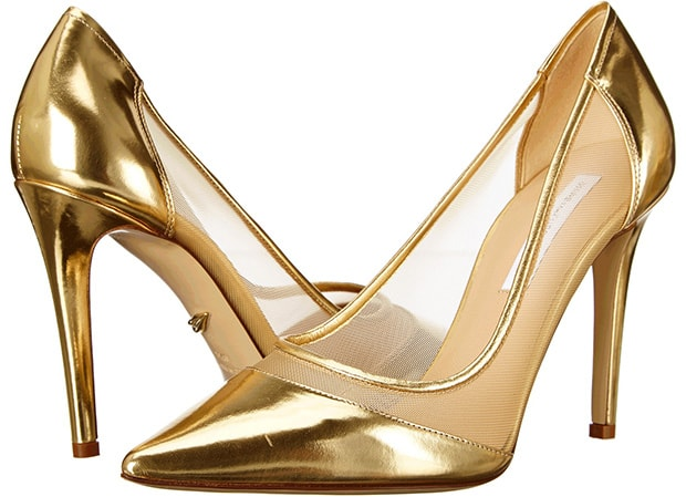 Diane von Furstenberg Bianca Pumps in Gold