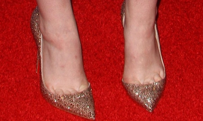 Elle Fanning wearing 'Iriza' d'Orsay pumps from Christian Louboutin