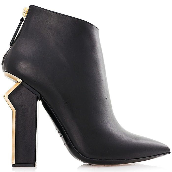 "Gianmarco Lorenzi Fall 2014 ""N.8"" Sculpted-Heel Ankle Boots"