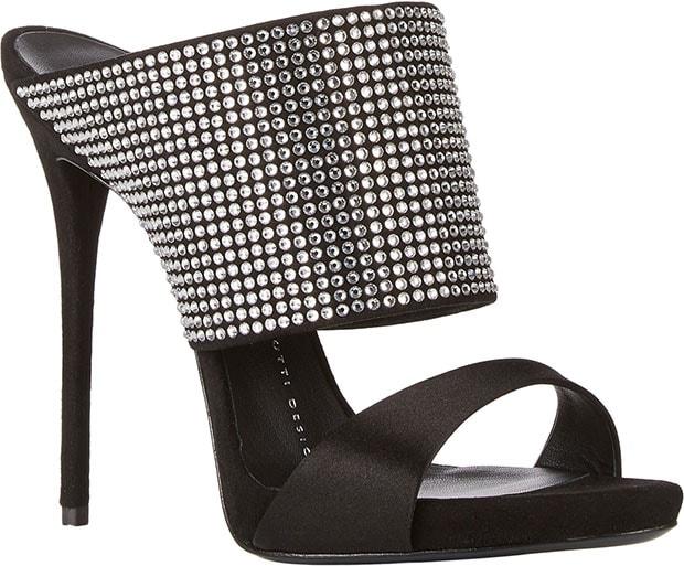 Giuseppe Zanotti Crystal-Embellished Slide Sandals