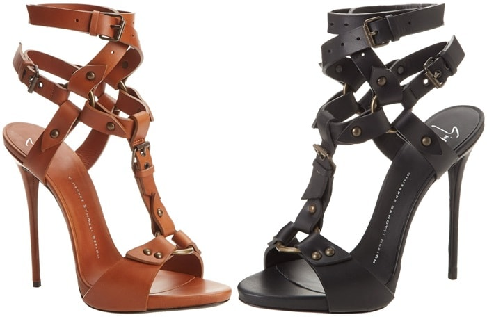 Giuseppe Zanotti Leather Wrap Strap Dress Sandal