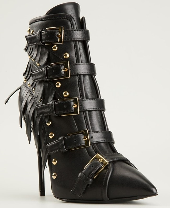 The slim heels of these boots are about 4 inches tall, and there are zipper closures on each side for ease of use