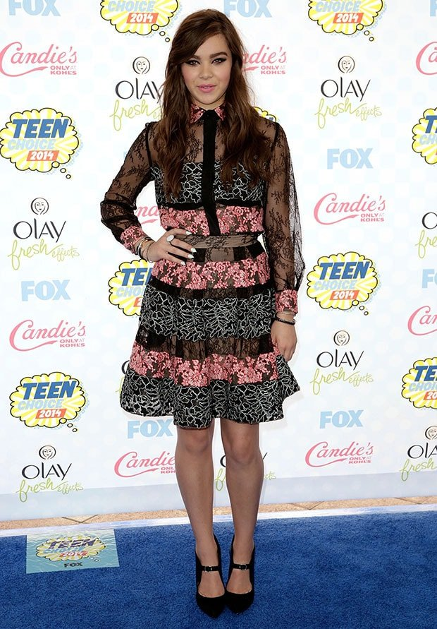 Hailee Steinfeld at the Teen Choice Awards 2014 held at the Shrine Auditorium in Los Angeles on August 10, 2014<