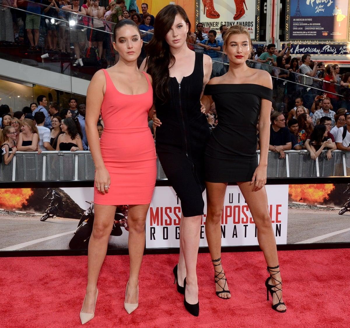 Hailey Bieber is shorter than her tall cousin Ireland and her sister Alaia Baldwin