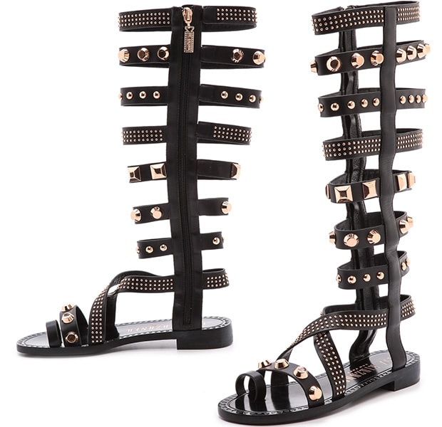 Ivy Kirzhner gladiator sandals gain punk polish with gleaming studs accenting the straps