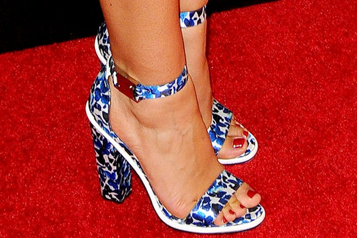 Jessica Clark wearing Topshop Rosemary sandals