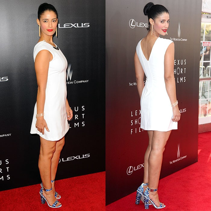 Jessica Clark at the Lexus Short Films series Life Is Amazing premiere in Manhattan, New York City, on August 6, 2014